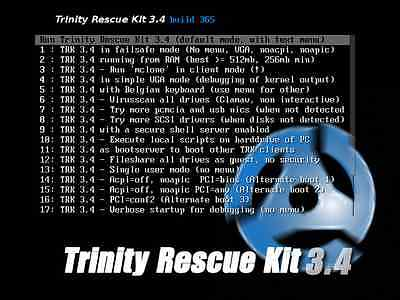 New Trinity Rescue Software Windows /8/7/Vista File Recovery Utility Suite CD