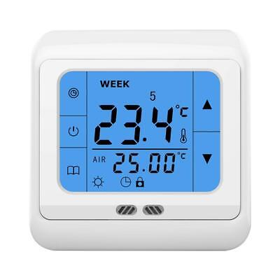 24V Volt LCD Touch Screen Programmable Underfloor Room Heating Thermostat