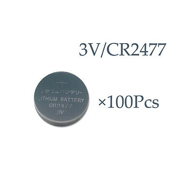 PKCELL WHOLESALE 100PCS PKCELL CR2477 3V Lithium Battery DL2477 Button Cell