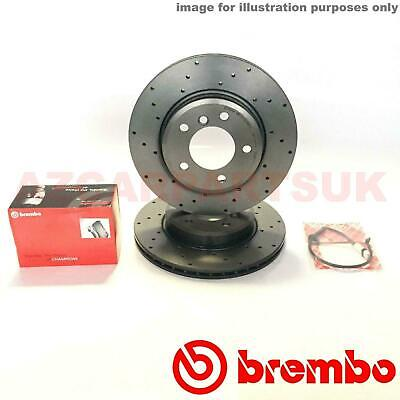 Bmw E46 320D + M Sport Front Drilled Brembo Brake Discs And Pads + Wear Sensors