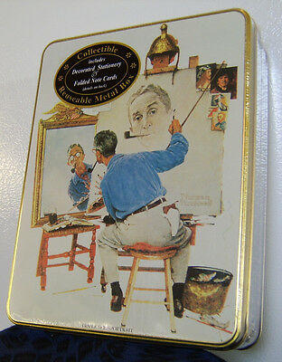 Norman Rockwell Stationary Tin / Saturday Evening Post Cover 1994
