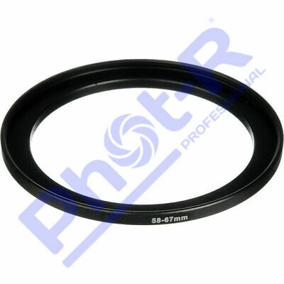 Phot-R 58-67mm Metal Stepping Step-Up Ring Camera Filter Lens Adapter DSLR SLR