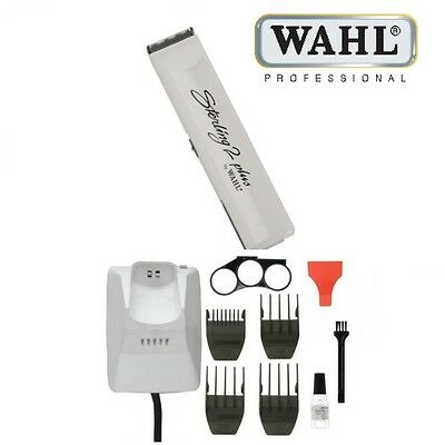 Wahl Professional Sterling 2 Plus White Rechargeable Cordless Hair Trimmer NEW*