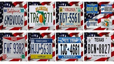American Licence Plates Coasters