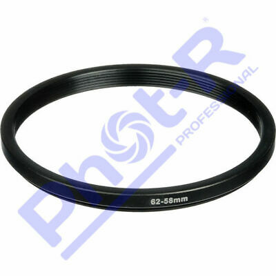 Phot-R 62-58mm Metal Stepping Step-Down Ring Camera Filter Lens Adapter DSLR SLR