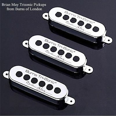 NEW Burns of London BRIAN MAY TRI-SONIC PICKUP SET Chrome