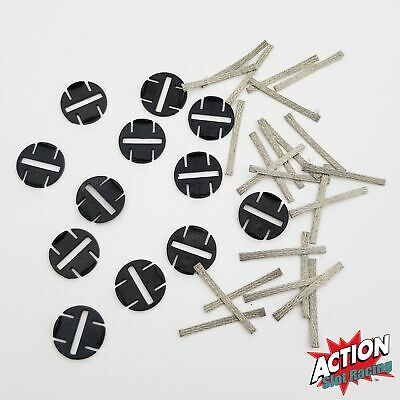 Genuine Scalextric Sport C8329 Quick-Fit Pickup Plates With Braids x 12