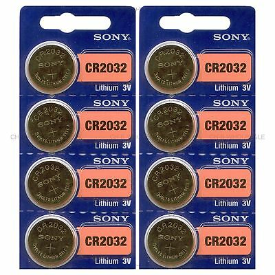8 NEW SONY CR2032 3V Lithium Coin Battery Expire 2027 FRESHLY NEW - USA Seller