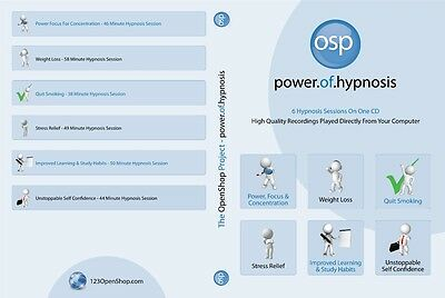 Hypnosis Audio CD 50 Minute Session Improved Mind Body Power, Weight Loss, Diet
