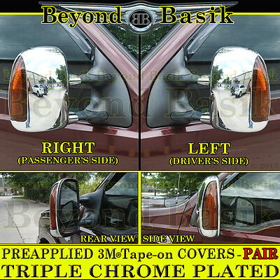 1999-2007 FORD SUPERDUTY Chrome Mirror COVERS For Towing w/Turn Signal type