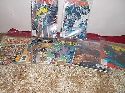 lot of DC and Marvel comic books