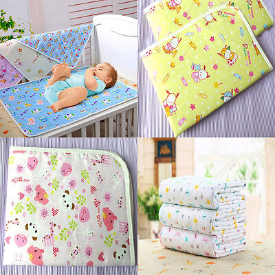 Baby Infant Waterproof Urine Mat Cover Burp Pure Cotton Changing Pad Reusable