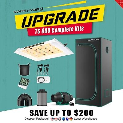 ECO 300W LED Grow Light Veg Flower Plant + 27''×27''×63''Indoor Grow Tent Kit