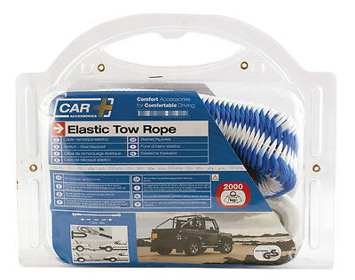 Sumex Heavy Duty 1.5 - 4m Elastic Towing Tow Rope - Pulls Cars up to 2.1 Tonnes