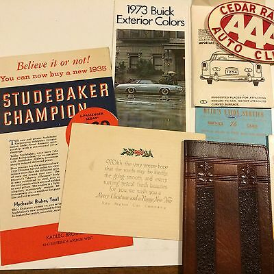 Misc Lot Of Auto / Car Advertising Items