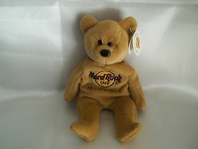 Hard Rock Cafe FT. Lauderdale Collectible Bear Isaac Beara NWT light brown