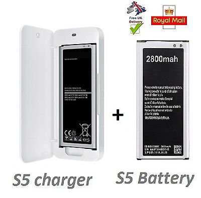 Spare Battery charger for Samsung Galaxy S5 +  High capacity S5 battery  2800mah