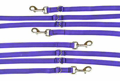 8ft,11ft Police Style Dog Training/Obedience Lead 20mm Cushion Webbing Purple