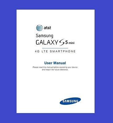 """Samsung Galaxy """"S5 mini"""" User Manual for AT&T (model SM-G800A)"""