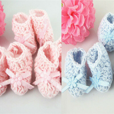 12 pairs miniature crochet booties baby shower favors baptism for decorations