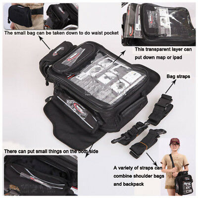 Waterproof Magnetic Motorcycle Oil Fuel Tank Rear Bag Helmet Shoulder Waist Bag