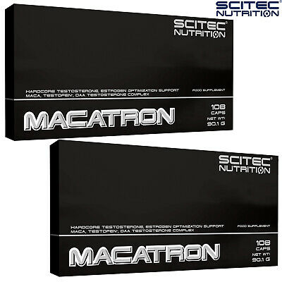 Macatron 108/216 Caps Testosterone Booster Support Muscle Growth Testofen PCT