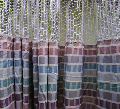LOT OF 4 - (Pattern A) - HOSPITAL PRIVACY/CUBICLE CURTAINS - FLAME RETARDANT -