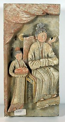 """Antiquity 13"""" Chinese Asian Hand Made Bas Relief Terracotta Temple Tile Decor"""