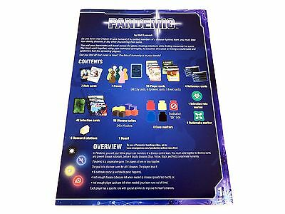 Pandemic Replacement / Expansion Original Game Rules Instruction Booklet