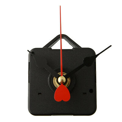 Goodly Replacement Clock Movement Mechanism with Hook Red Metal Heart Hands DIY