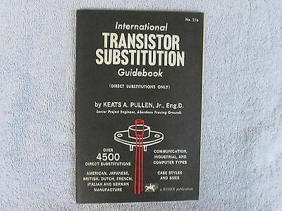 International Transistor Substitution Guidebook-A 1961 Rider Publication Box - E