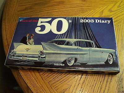 2003 Taschen Cars of the 50's Weekly Diary Calender w/ Original Box  New
