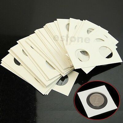 "50pcs 27.5mm Lighthouse Stamp Coin Holders Cover Case Storage 2X2"" Flip"