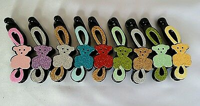 10x GLITTERY COLOUR BANANA HAIR CLIPS HAIR GRIPS FASHION ACCESSORIES JOBLOT