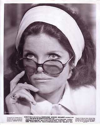 SAMANTHA EGGAR Vintage 1970 Photo LADY IN THE CAR WITH GLASSES AND A GUN Rare