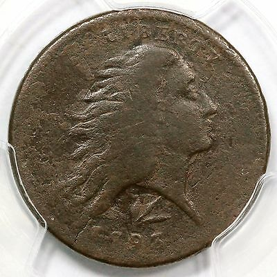 1793 S-11c R-3- PCGS VG Details Lettered Edge MDS Wreath Large Cent Coin 1c