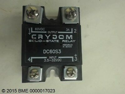 Crydom Dc60S3 Solid-State Relay Output 60Vdc 3A, Input 3.5-32 Vdc