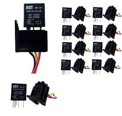 Micro Relay & Socket - 4 Pin - 'Normally Open' - 20A / 30A (Pack of 2pcs)