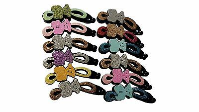 12x GLITTERY COLOUR BANANA HAIR COMB CLIPS HAIR GRIPS FASHION ACCESSORIES joblot