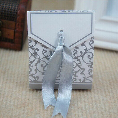 100pcs Ribbon Wedding Birthday Favor Party Boxes Gift Candy Baby shower Box