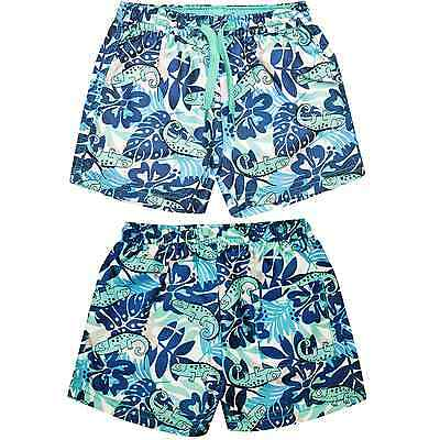 Baby Boys Lizard Swim Shorts Babies Summer Swimwear Beachwear Shorts 3M-3 Years