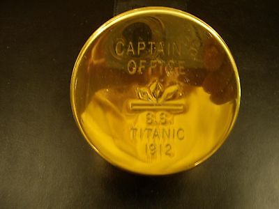 NEW, Brass like container engraved with Titanic Captains Office w/Free Shipping!