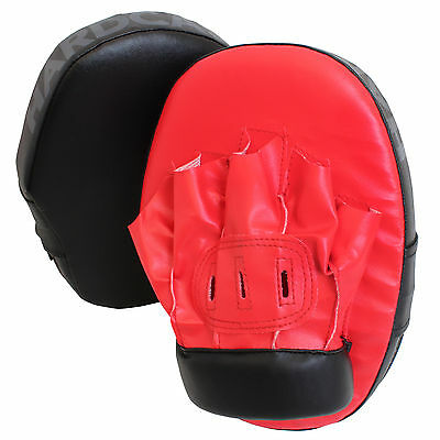 Hardcastle Red Punch Kick Boxing Sparring Pads/mitts Focus Hook & Jab Glove Mma