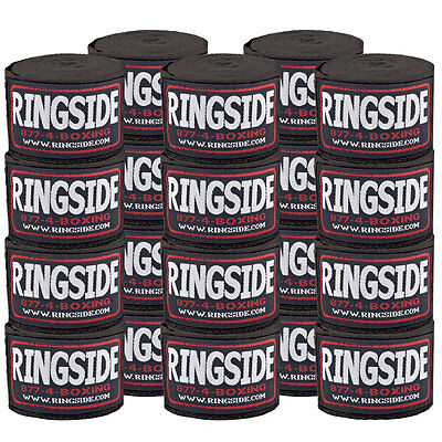 Ringside Mexican Style Hand Wraps - Black - 10 Pair