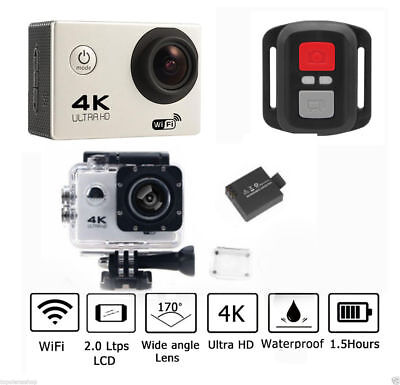 Pdr*Pro Cam Sport Action Camera 4K Wifi Ultra Hd 16Mp Videocamera Con Telecomand