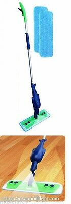 Refillable Spray Mop Kit  with 2 Microfiber Mop Pads, Free Shipping!