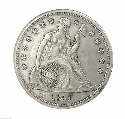 RARE Key Date 1841 Seated Liberty Silver $1 One Dollar NGC AU 53 Certified Coin