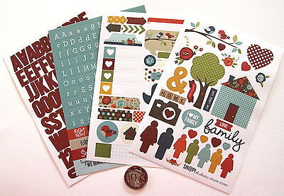 Scrapbooking No 111 - 250+ Die Cut Sayings & Alphabet Family Stickers