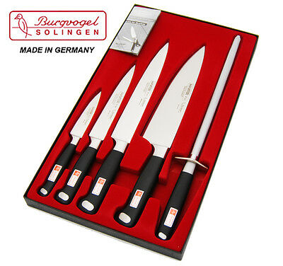 Burgvogel Quality GERMAN 5 pc Master chef knives set, stainless steel RRP$ 599
