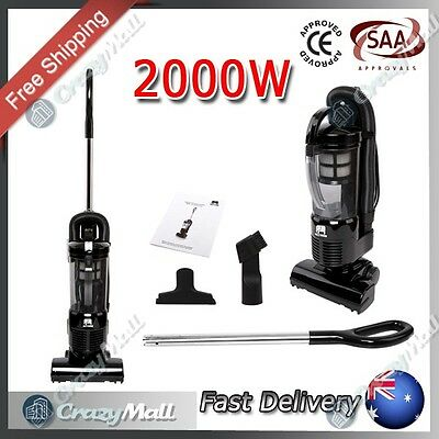 Bagless Upright Vacuum Cleaner with Cyclone Motor HEPA Filter 2000W Black